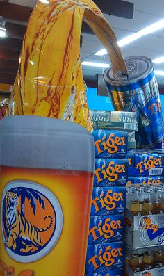 Tiger Beer Giant Beer Can Display   The Selling Points PD