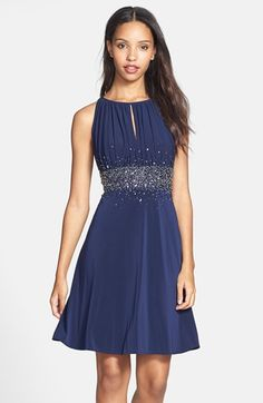 Free shipping and returns on JS Boutique Beaded Waist Jersey Dress at Nordstrom.com. A bead-embellished waist captures the light on a lithe jersey dress designed with a ruched keyhole bodice and twirl-ready skirt.