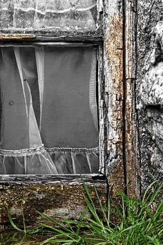 Cottage Window. Golden Road. Isle of Harris. Scotland. Highlands and Islands.