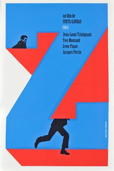 """Image of the Day: Poster for the film """"Z,"""" by Nelson Ponce. From the exhibit """"Cuban Film Posters: From Havana to the World. Best Movie Posters, Cool Posters, Marcel Bozzuffi, Zine, Jacques Perrin, Yves Montand, Foreign Movies, Image Of The Day, Graphic Design Art"""