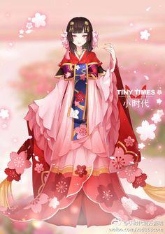 堆糖-美好生活研究所 Character Outfits, Character Art, Character Design, Cartoon Outfits, Anime Outfits, Kawaii Dress, Anime Dress, Drawing Clothes, Japanese Outfits
