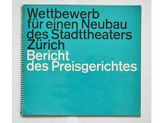 Wettbewerb für einen neubau des stadttheaters zürich c1961 designed by Walter Bangerter