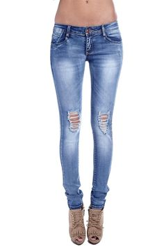 3021e86a245 Super skinny jeans with low-rise waist - 49