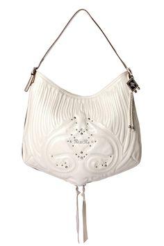 <3 this!!!! White Patent Jade Hobo Bag by missme