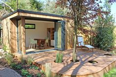 Read about our recently completed Garden Studio in Winchester, complete with a roof, doors and controlled lighting. Sedum Roof, Garden Lodge, Hot Tub Garden, Studio Build, She Sheds, Garden Studio, Garden Buildings, Rustic Gardens, Garden Office