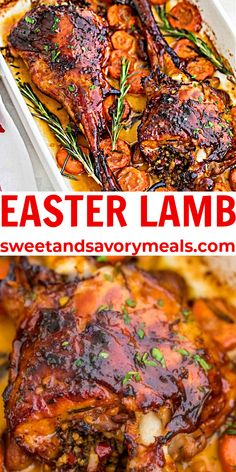 Easter Lamb is the perfect main course for Easter dinner. #lamb #Easterdinner #dinner #Easter #sweetandsavorymeals Easter Dishes, Easter Food, Easter Brunch, Easter Party, Spring Recipes, Easter Recipes, Easter Ideas, Holiday Recipes, Easy Homemade Recipes