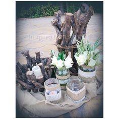 Στολισμός γάμου με ελιά και λευκό τριαντάφυλλο...Wedding decoration...olive & rose.... Κορμοί κ γήινα χρώματα... weddind decoration details...λαμπάδες γάμου κορμοί... Table Decorations, Furniture, Home Decor, Decoration Home, Room Decor, Home Furnishings, Home Interior Design, Dinner Table Decorations, Home Decoration