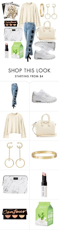 """""""2 January 2018"""" by stevie-pumpkin ❤ liked on Polyvore featuring Sans Souci, NIKE, Givenchy, Chloé, Cartier, Bobbi Brown Cosmetics, Charlotte Russe, Assouline Publishing and Winter"""