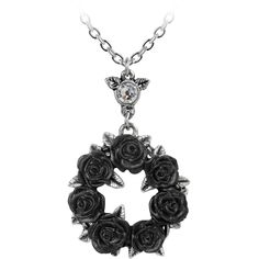 Hell's Boutique - Ring 'O Roses Pendant Goth HellsBoutique.com