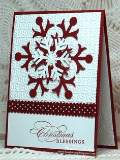 Stamping with Klass: Cherries in the Snow