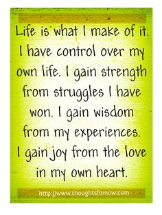 DAILY AFFIRMATION FOR 13 MAY 2012
