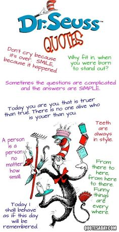 Dr. Seuss quotes ... Perfect for the boys nursery that we may do!! Remember this!!
