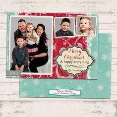 Christmas Photo Card  5x7 printable download  3 by ValeriePullam, $18.00