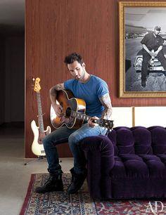 Adam Levine @ home