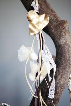 κρεμαστή μπομπονιέρα με καρδιά Atelier Zolotas