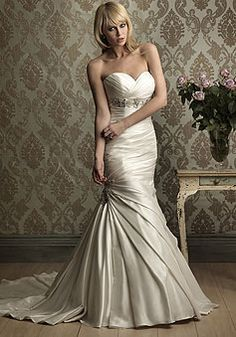 Saw dress like this on say yes - looked great on the bride with similar body type!