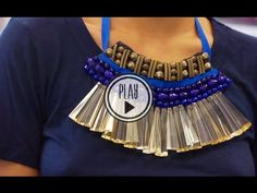 P.S.- I made this...Beaded Bib Necklace