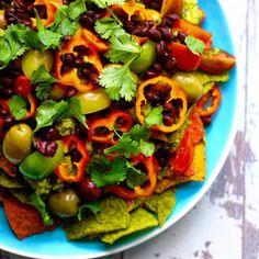 { HEALTHY VEGAN NACHOS } #heathly #vegan #nachos #mexico #recipe