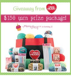 Huge Yarn Giveaway from Red Heart Yarns - $150!!
