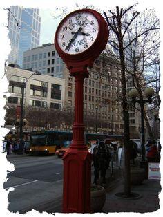 Century Square Street Clock Seattle