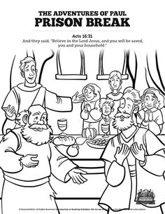 bible coloring pages about acts 16 | 194 Best Top Sunday School Coloring Pages with Bible ...