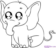 step learn how to draw a baby elephant free step by step online drawing tutorials safari animals animals free step by step drawing tutorial will teach you - Baby Jungle Animal Coloring Pages