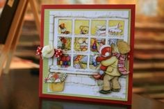 Flower soft christmas window card by MERR Handmade Christmas Tree, Christmas Candles, Vintage Christmas Cards, Christmas Greeting Cards, Christmas Greetings, Parchment Cards, Flower Window, Window Cards, Flower Cards