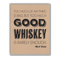 Whiskey Art Print Man Cave Poster Rustic Wedding Sign by PurplePeonyCouture on Etsy #whiskey #mancave