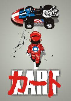 Parody poster Akira - Mario Kart