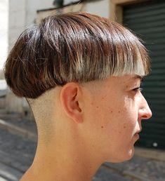 Superb Shaved Bob Straight Bob And Asymmetrical Bob Haircuts On Pinterest Short Hairstyles Gunalazisus