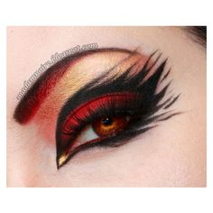 15 Best Spider Web, Cat Bat Eye Makeup Looks Ideas For Halloween 2015 ❤ liked on Polyvore featuring beauty products, makeup and eye makeup