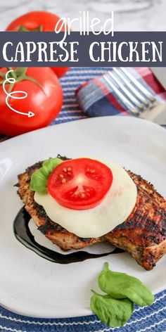 This Grilled Caprese Chicken is a delicious twist to the classic Italian Caprese salad, packed with the same mouth-watering flavors. Easy Family Dinners, Quick Easy Meals, Easy Chicken Recipes, Easy Recipes, Keto Recipes, Dinner Recipes, Chicken With Italian Seasoning, Caprese Chicken, Classic Italian