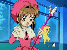 Cardcaptor Sakura Episode 23 | CLAMP | Madhouse / Kinomoto Sakura and Keroberos (Kero-chan)
