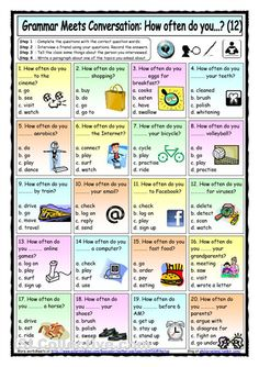 Grammar meets conversation - daily routines and simple present practice