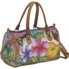Anuschka Medium Satchel - Abstract Sunset.  On sale now.  All Anuschka bags are beautiful.