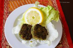 Hara Tawa Kebab (Griddle- roasted spinach and gram kebab)