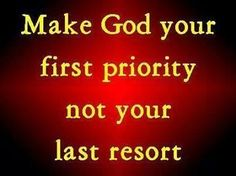 Make God your FIRST PRIORITY  Fellowship Christian Athlete (If I make the basketball team)