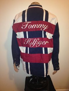 Vintage 1990s  TOMMY HILFIGER button down swag by FisforFRESH, $58.00 #vintage #tommyHilfiger