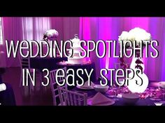 Learn how to setup your own DIY wedding spotlights. Simply turn it on and aim at the cake/centerpiece. Wedding Spot, Diy Wedding, Wedding Cakes, Wedding Venues, Dream Wedding, Wedding Reception, Sweet 16 Pictures, Cake Centerpieces, Pot Lights