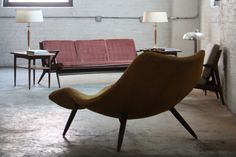 ***ON DECK***Boss Adrian Pearsall Mid Century Modern Countour Chaise Model 1828-C for Craft Associates (U.S.A., 1960s)