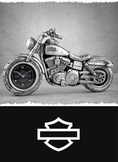 Show your passion for chasing sunsets. | Harley-Davidson Motorcycle Clock