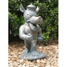 This Strutting wolf Oxbay Garden Statue is a great addition to any lawn or garden. *Made of high quality resin/fiberglass combo. *Has an antique bronze finish. *Stands 18 inches tall. ***This product ships directly from the manufacturer within 3-5 business days. Not available for expedited shipping.