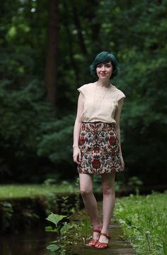 Wonderful skirt - reminds me of Autumn. Also, excellent thoughts from Rebecca of The Clothes Horse on beautification.