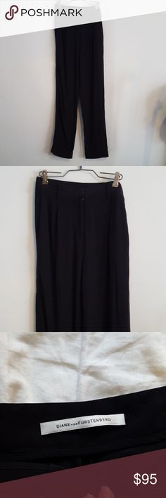 SALE Diane von Furstenberg black silk pant High rise pant from Diane von Furstenberg. Silk material, super lightweight and soft. No flaws. Waist is 13 inches across. Diane Von Furstenberg Pants