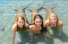 Emma, Cleo, and rikki from h2o just add water. In the sister/friend way