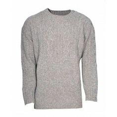 Bolongaro Trevor Fisherman Knit Griege made from British Shetland Wool. Jumper, Men Sweater, Shetland Wool, Knitwear, Leather Jacket, Knitting, My Style, Sweaters, How To Make