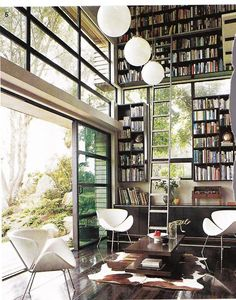 A home library like that would be so cool! But I would have to put all of my favorite books on the bottom shelves because I would be way too scared of heights to climb to the top lol