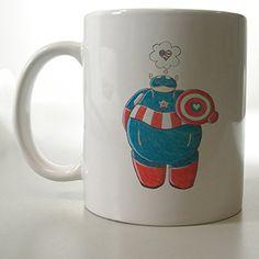 Baymax Big Hero 6 Captain America Superhero Mug Two Side 11 Oz Ceramic Mug http://www.amazon.com/dp/B00VFHVJCU/ref=cm_sw_r_pi_dp_xRljvb1Q87ERP