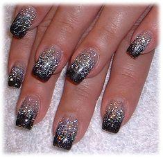 Glittery Nail Art