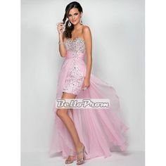 2014 Sweetheart Neckline Beaded Chiffon Pink Prom Dress PD33835 at belloprom.com